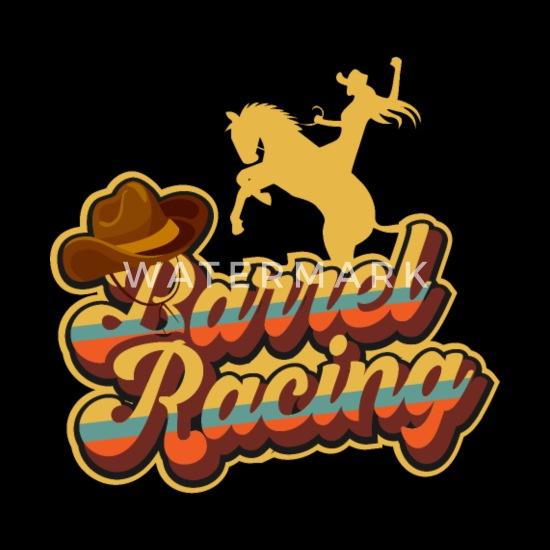 Retro tønde racing hest gave jeg Rodeo Premium hættetrøje