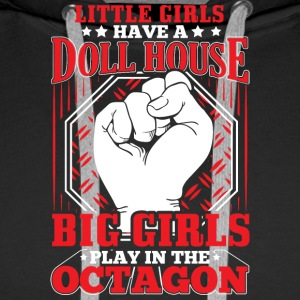 MMA LITTLE GIRLS OCTAGON - Men's Premium Hoodie