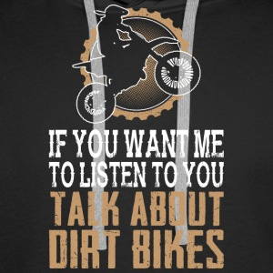 I Love Dirt Biking - Men's Premium Hoodie