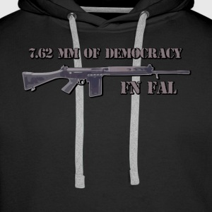 fn fal fan t shirt 7,62 mm for demokrati - Herre Premium hættetrøje