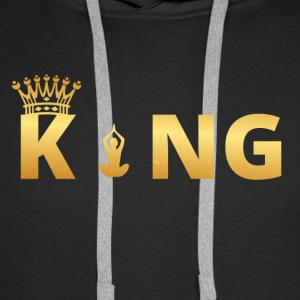 gift king king god yoga 7 - Men's Premium Hoodie