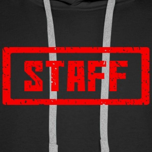 Staff stamp red - Men's Premium Hoodie