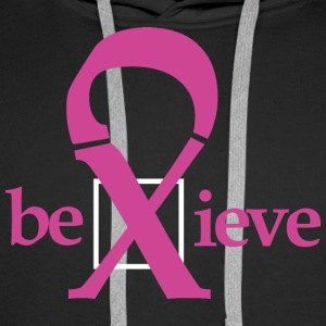 Believe Cancer Fight - Men's Premium Hoodie