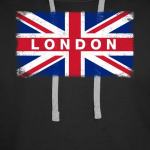 London Shirt Vintage United Kingdom Flag T-Shirt - Premiumluvtröja herr