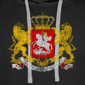 Georgian Coat of Arms Georgia - Men's Premium Hoodie