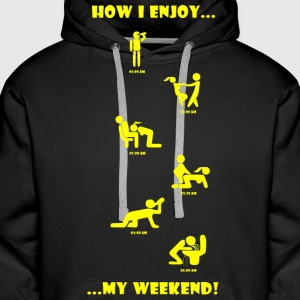 How I enjoy my weekend YELLOW - Men's Premium Hoodie