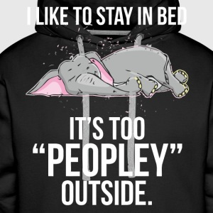 I like to stay in bed Elephant shirt - Men's Premium Hoodie
