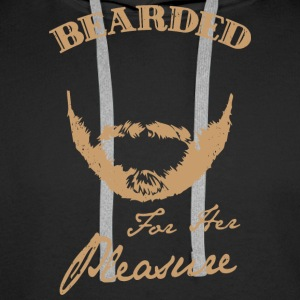 Bearded for her pleasure - bearded - Men's Premium Hoodie