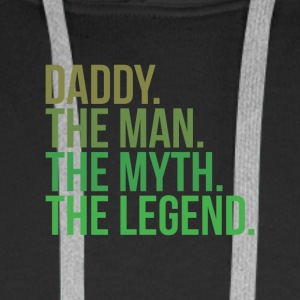 Parents daddy the man - Men's Premium Hoodie