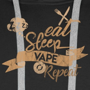 EAT SLEEP Vape REPEAT - Herre Premium hættetrøje