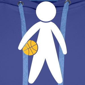 A Basketball Player Holding The Ball - Men's Premium Hoodie