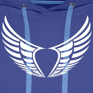 2 wings heart - Men's Premium Hoodie