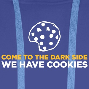Come To The Dark Side. We Have Cookies! - Men's Premium Hoodie