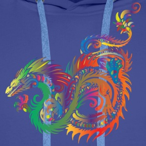 colorful dragon - Men's Premium Hoodie
