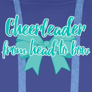 Cheerleader from head to bow. - Männer Premium Hoodie