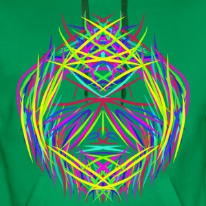 face trippy abstract psychedelic colorful - Men's Premium Hoodie