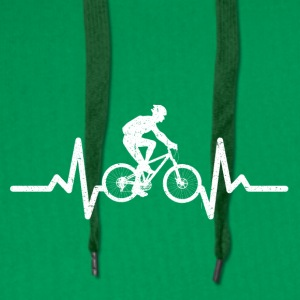 My heart beats for cycling - Men's Premium Hoodie