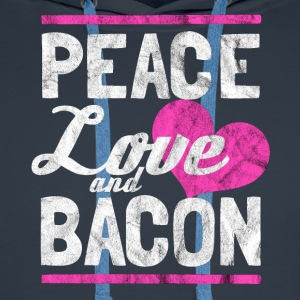 Peace, Love and Bacon - Lahja - Miesten premium-huppari