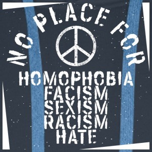 no place for racism hate antifa antisexism - Men's Premium Hoodie
