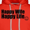 Happy Wife, Happy Life - Men's Premium Hoodie