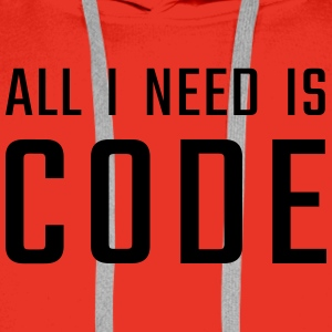 All I need is CODE - Men's Premium Hoodie