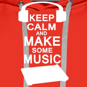 KEEP KALM make music - Men's Premium Hoodie