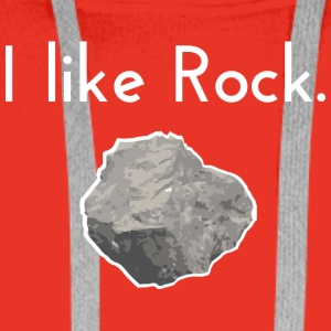 I like rock - Men's Premium Hoodie