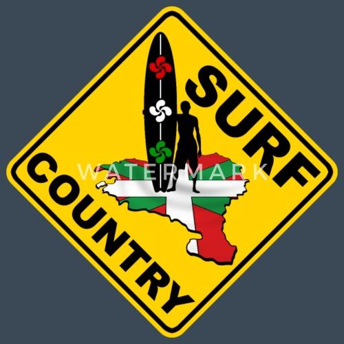 euskadi surf country - Sudadera con capucha premium hombre. detrás.  delante. Diseño 672234b6d19