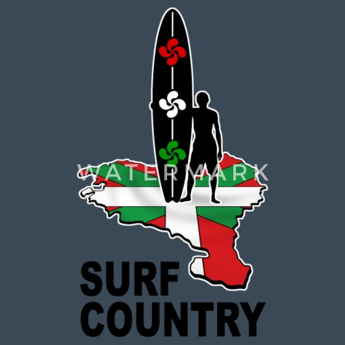 basque surfing country 02 - Sudadera con capucha premium hombre. detrás.  delante. Diseño 595ba933a3b
