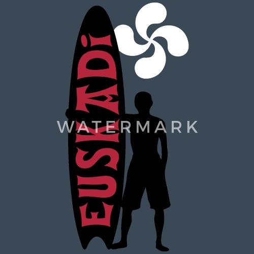 Diseño. Diseño. detrás. delante. Surf Sudaderas - euskadi surfing fashion  03 - Sudadera con capucha premium hombre azul vaquero 9c9a8264a29