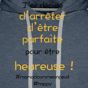 t-shirt_happy_orange - Sweat-shirt à capuche Premium pour hommes