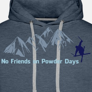 No. friends on Powder days