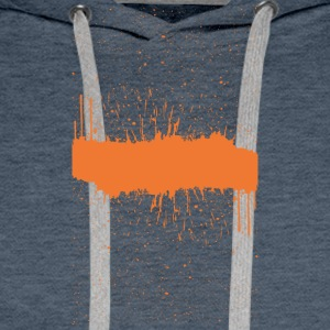 Orange brush Skizze - Männer Premium Hoodie