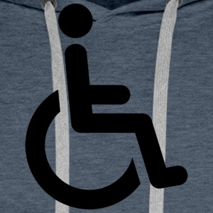 wheelchair - Men's Premium Hoodie