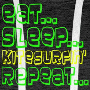 EAT SLEEP KITESURFING REPEAT - Men's Premium Hoodie