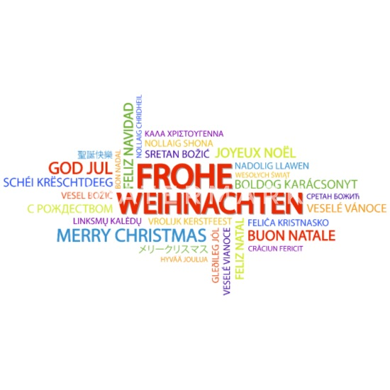 Frohe Weihnachten Auf Allen Sprachen.Frohe Weihnachten In Verschiedenen Sprachen Lätzchen Spreadshirt