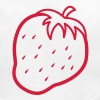 outline of a strawberry cool fruit - Baby Organic Bib