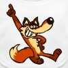 Cartoon Fox Strut by Cheerful Madness!!  - Baby Organic Bib