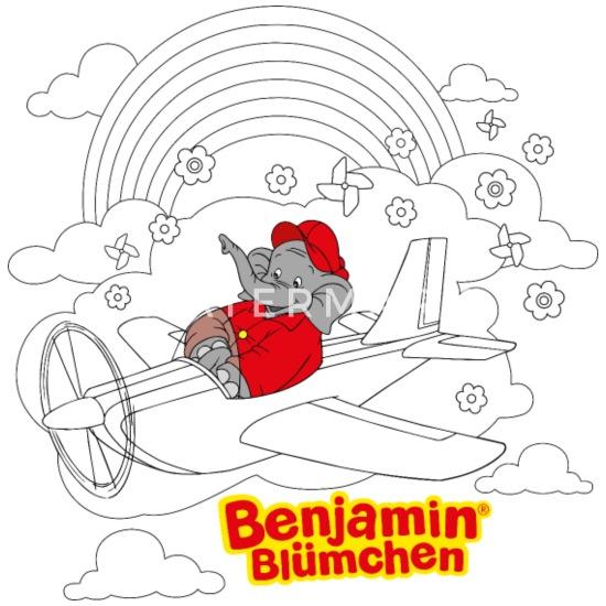 Benjamin Blumchen Motiv Zum Ausmalen Latzchen Spreadshirt