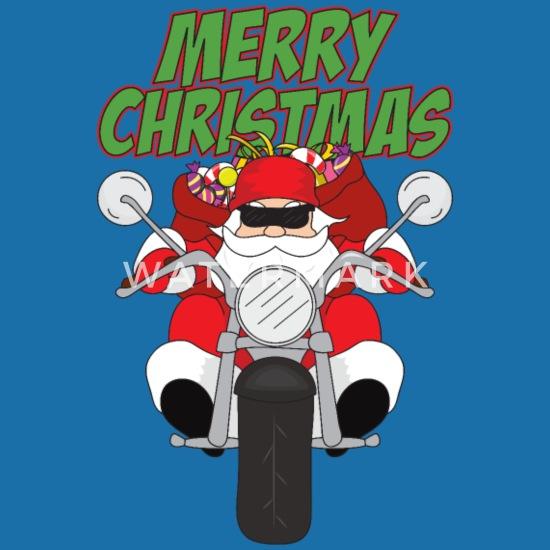 Frohe Weihnachten Motorrad.Weihnachten Motorrad Weihnachtsmann Santa Claus Latzchen