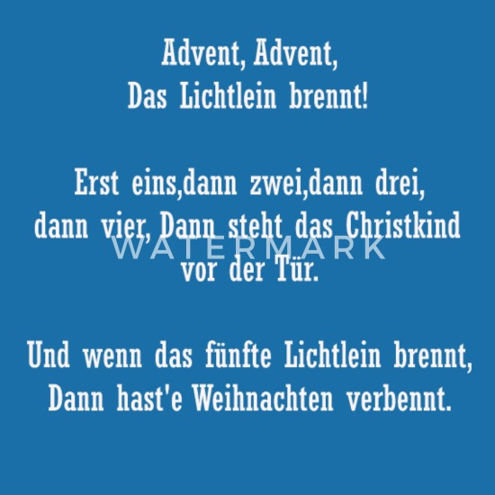 Advent Gedicht Lätzchen Spreadshirt
