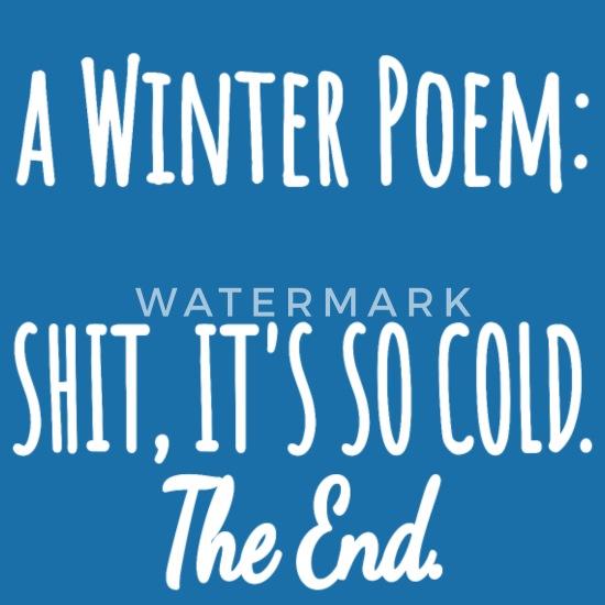 Wiersz Zimowy Wiersz Bezczelny Zima Zimno śmieszne