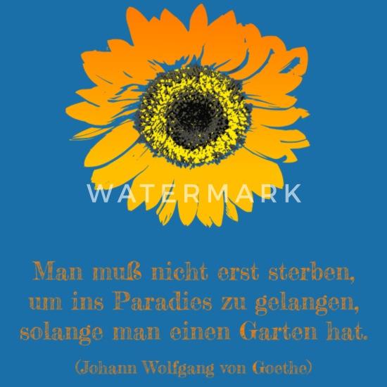 Sonnenblume Garten Gärtner Gartenfreund Spruch Lätzchen