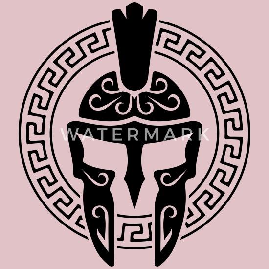 spartan helmet symbol spartan sparta Baby Bib | Spreadshirt