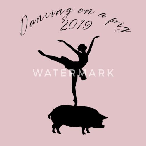 Silvester Chinesisch Neujahr Schwein Ballett Tanz Lätzchen Spreadshirt