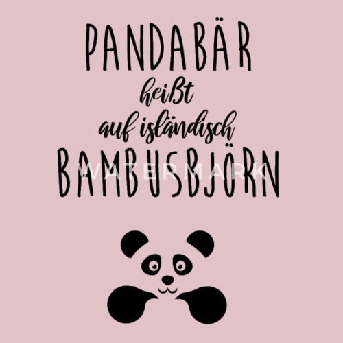 Pandabar Bambusbjorn Latzchen Spreadshirt
