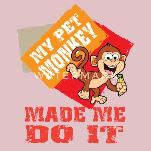 Kuschelaffe Schuld Affe Spielzeug Haustier Latzchen Spreadshirt