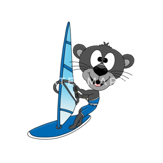 Panthere Surfeur Planche A Voile Sport Animal Mug Bicolore Spreadshirt