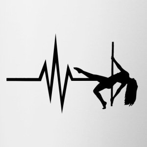 My heart beats for Pole Dance - Poledance Dance - Contrasting Mug