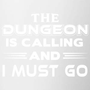 Dungeon is calling - Tasse zweifarbig